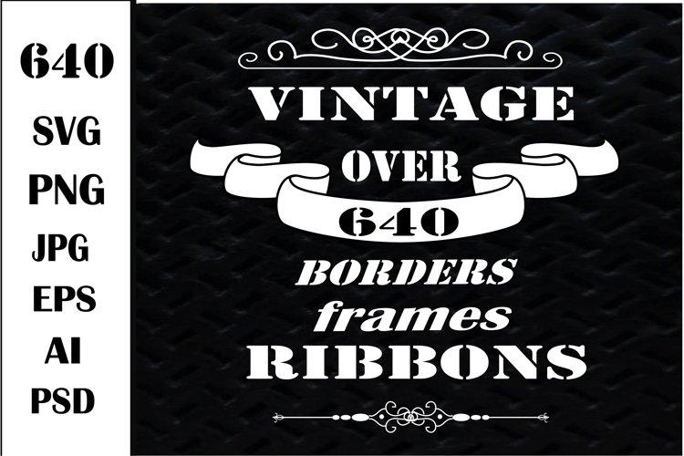 Banners SVG. Borders SVG. Ribbons SVG, Frames, Labels Bundle