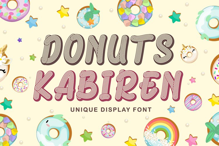 Quirky Craft Font - Donuts Kabiren example image 1