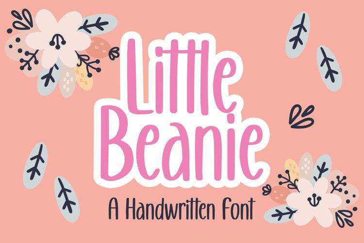Little Beanie - Handwritten Font example image 1