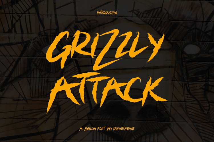 Grizzly Attack - Brush Font example image 1