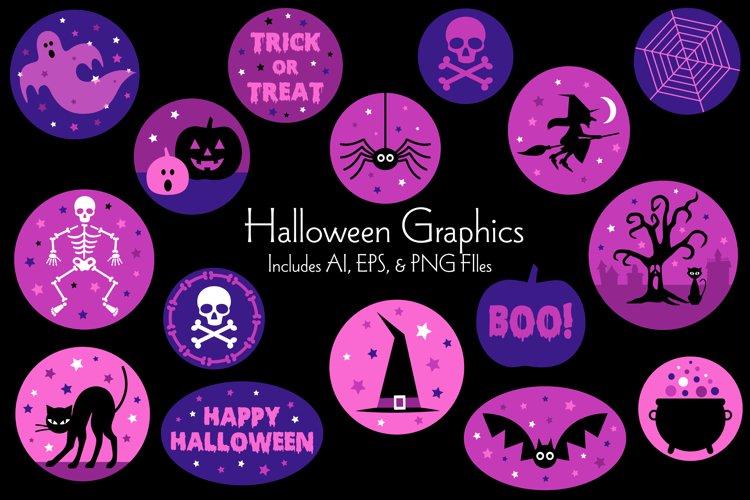 Purple Halloween Vector Graphics