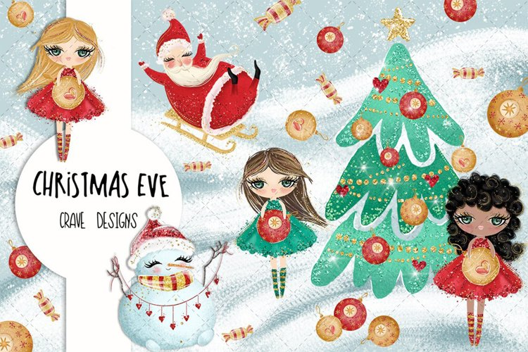 Christmas Eve Clip Art example image 1