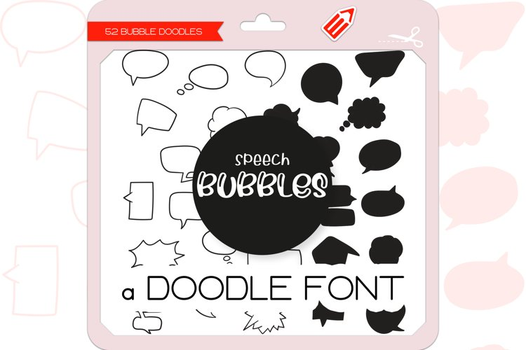 Speech Bubble Doodles - Dingbats Font example image 1