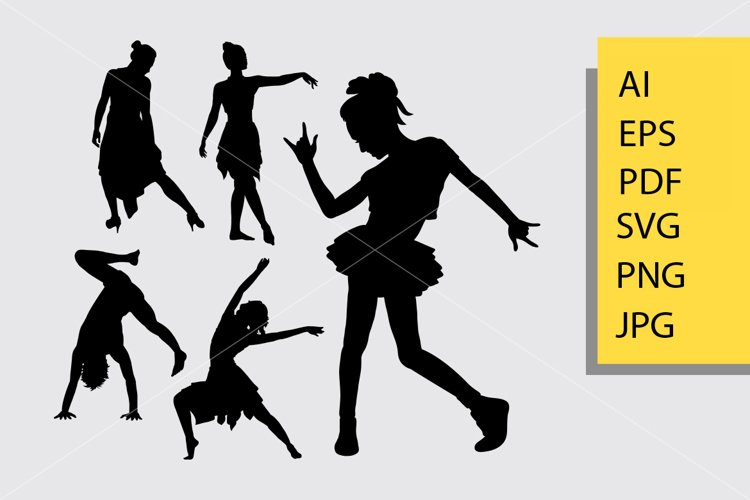 Dancing 1 silhouette example image 1