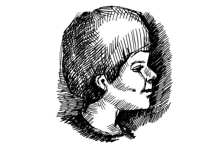 Ink boy portrait