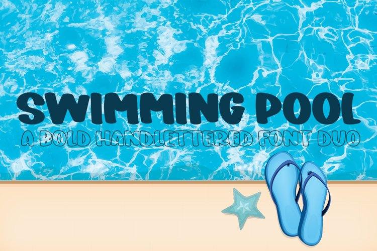 Swimming Pool - A Bold Hand-Lettered Font Duo example image 1