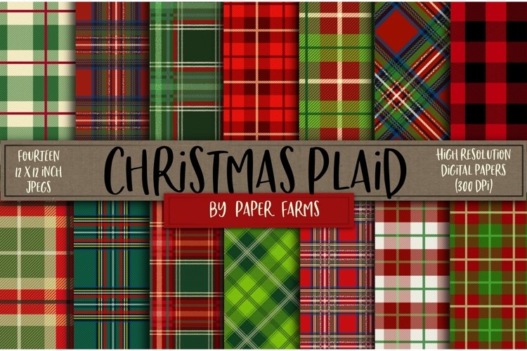 Christmas plaid backgrounds