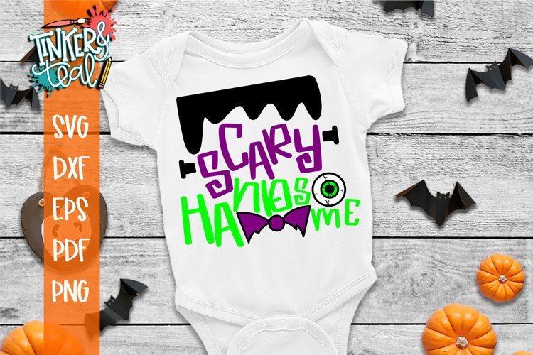 Scary Handsome Halloween SVG Cut File example image 1
