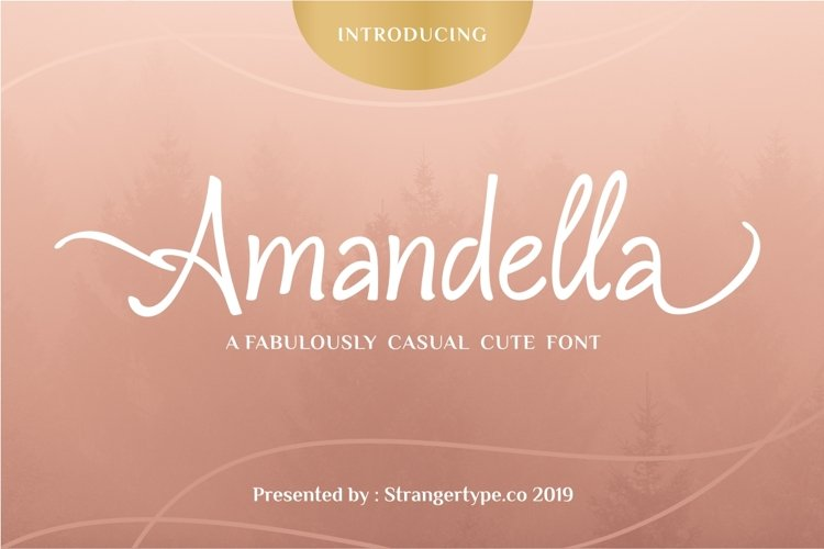 Amandella - Beauty Font example image 1