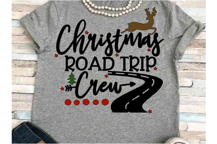 Road trip SVG DXF JPEG Silhouette Cameo Cricut Christmas example image 1
