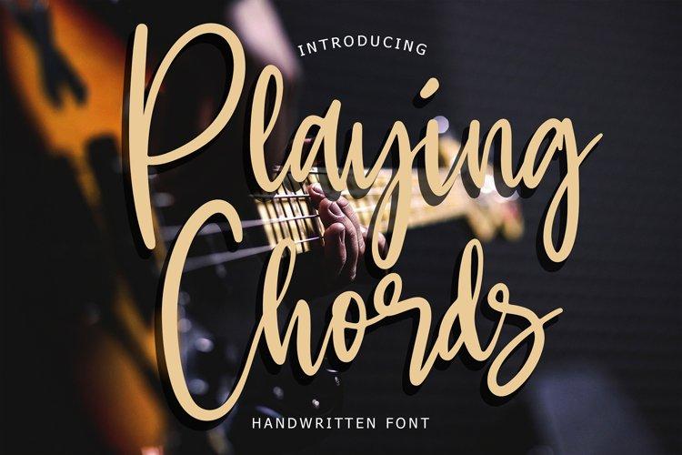 Playing Chords Modern Handwritten example image 1