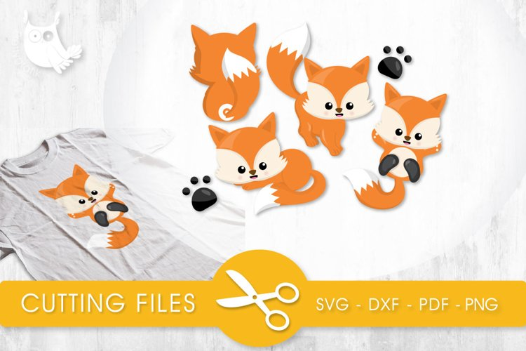 Playful Foxes cutting files svg, dxf, pdf, eps included - cut files for cricut and silhouette - Cutting Files SG