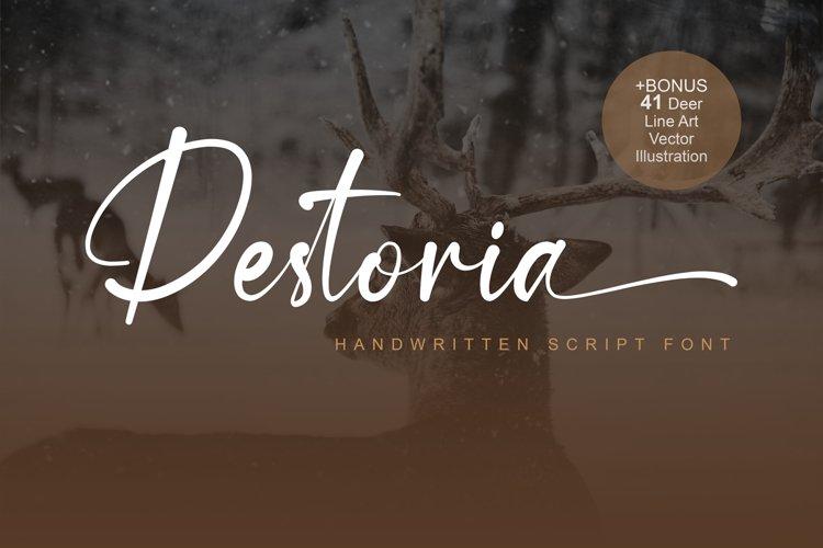 Destoria Font example image 1