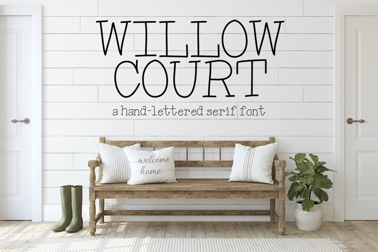 Willow Court - A Hand-Lettered Serif Font