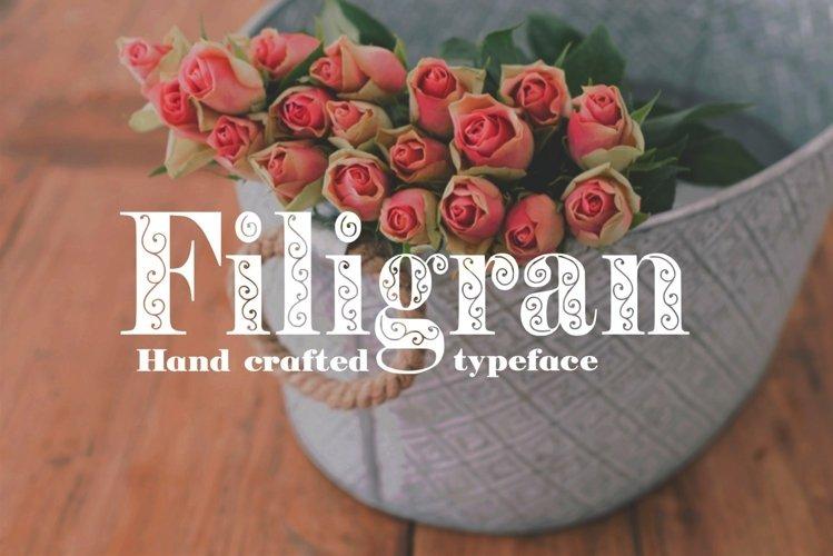 Filigran font example image 1