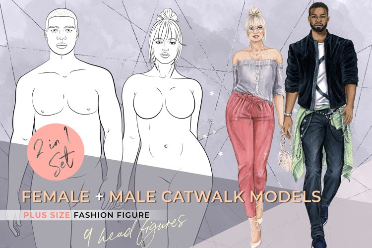 Female & Male Catwalk Plus-Size Models