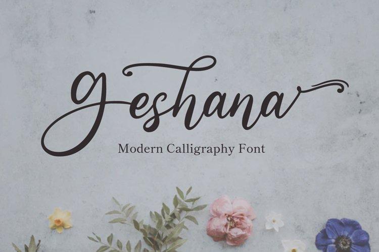 Geshana - Wedding Font example image 1