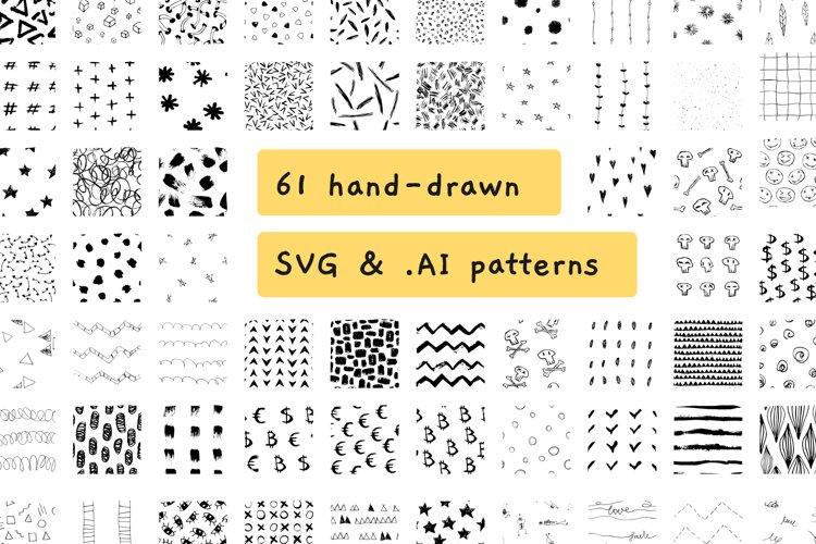 HUGE BUNDLE of 61 seamless SVG & vector patterns. example image 1