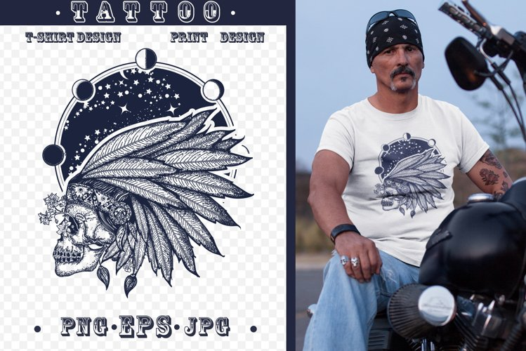 Esoteric skull tattoo example image 1