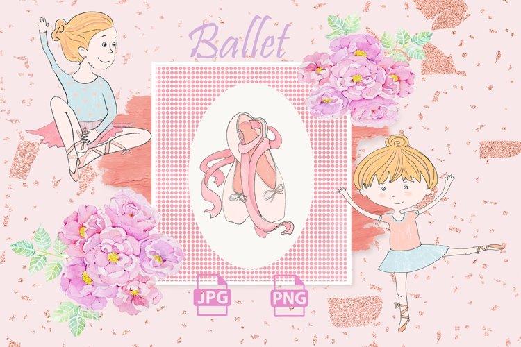 Ballet Clipart illustration, ballet dancer, ballerina