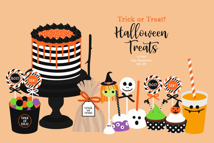 Halloween Treats Clip Art, Trick Or Treat, Halloween Graphic example image 1