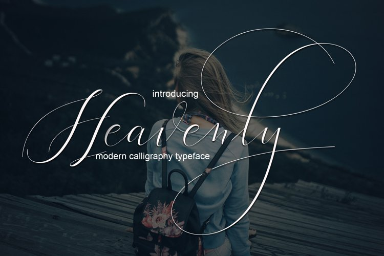 Heavenly Script | WEB FONT example image 1