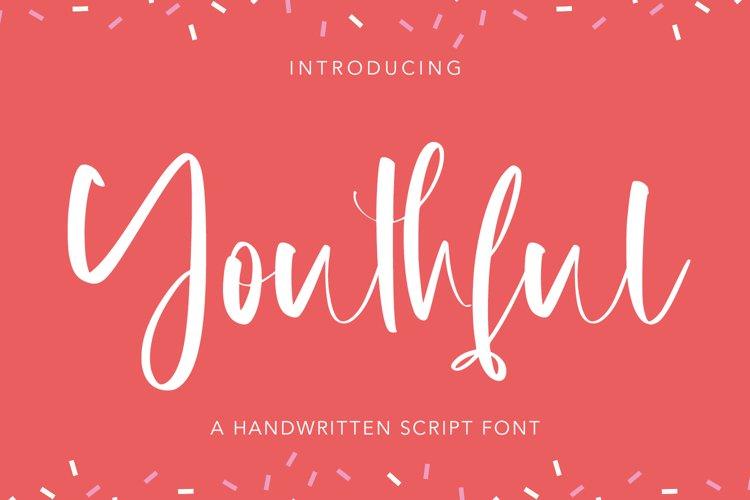 Youthful - Handwritten Script Font example image 1