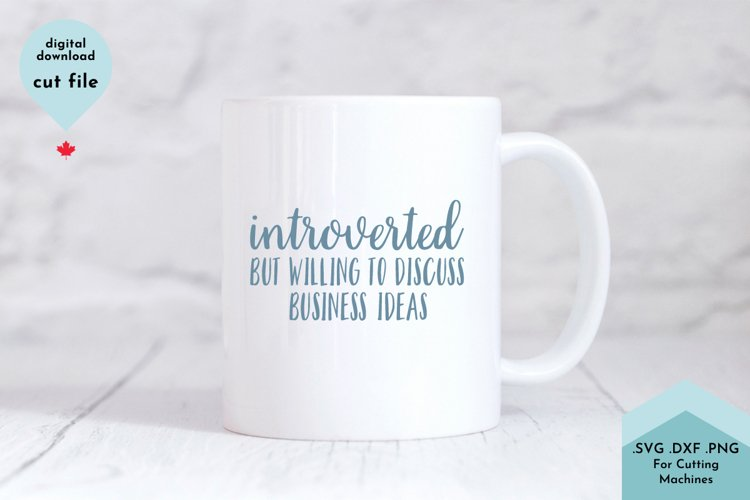 Introverted Small Business Owner Funny example