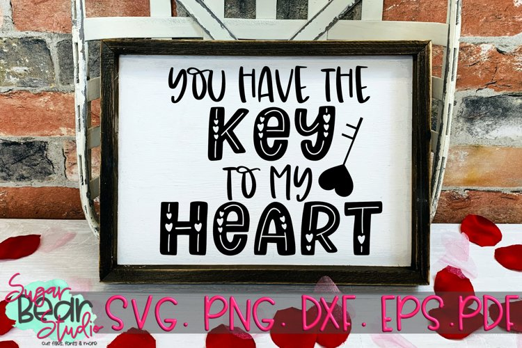 Key to my Heart - A Valentine SVG example image 1