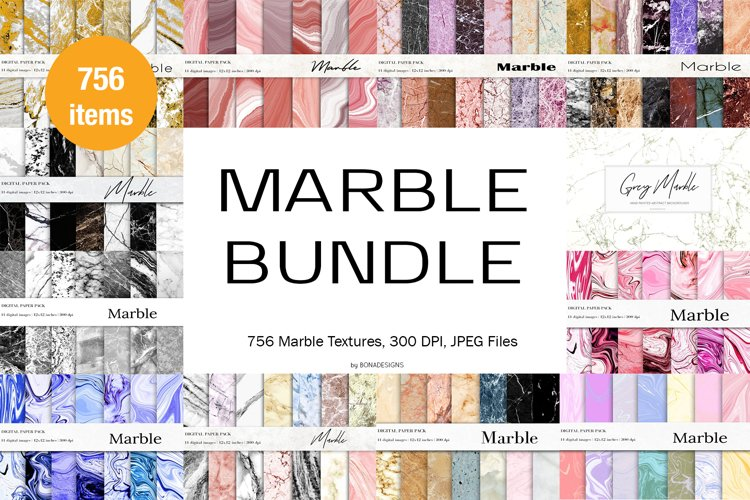 Marble Textures Bundle, Marble Backgrounds
