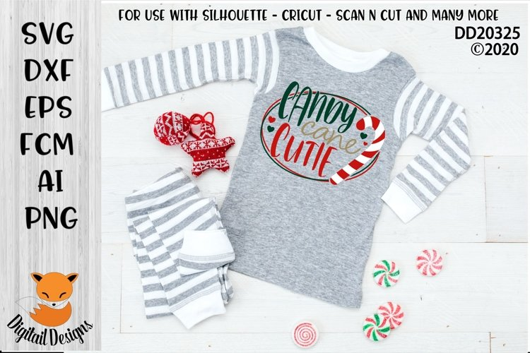 Candy Canes Cutie Christmas SVG for Silhouette, Cricut example image 1