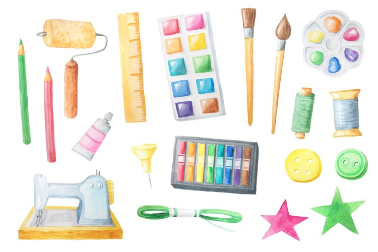 Watercolor Craft Collection  - Free Design of The Week Design0