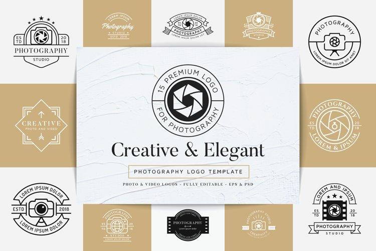 15 Premium Photography Logo example image 1