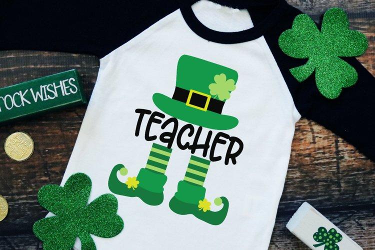 Teacher Leprechaun - St Patrick's Day SVG example image 1