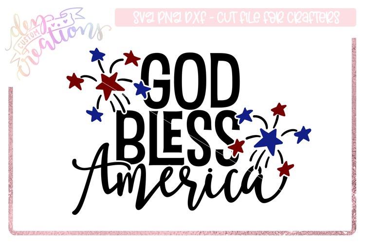 God Bless America - 4th of July Design