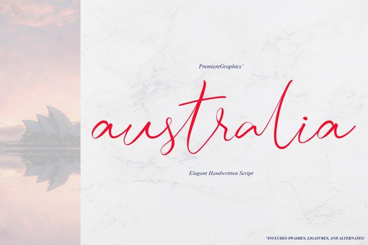 Australia Script Font example image 1