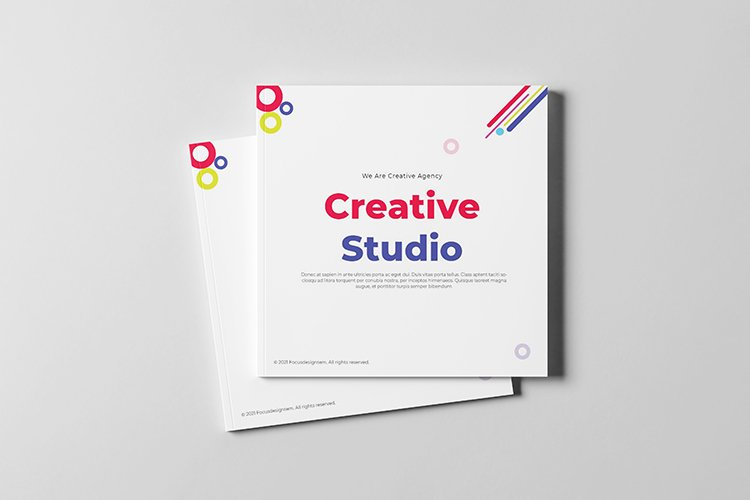 Creative Agency Brochure Square Template example image 1