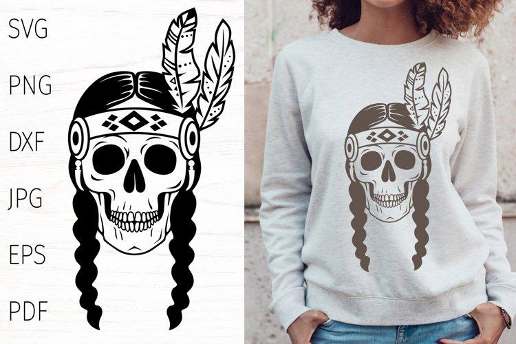 Skull svg, tribal svg, native american indian, boho svg