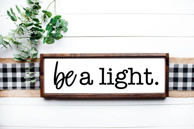 Be A Light, Scripture, Farmhouse Cut Files, 5 Cut Files