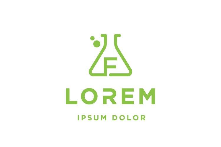Letter F Laboratory Logo vector illustration example image 1
