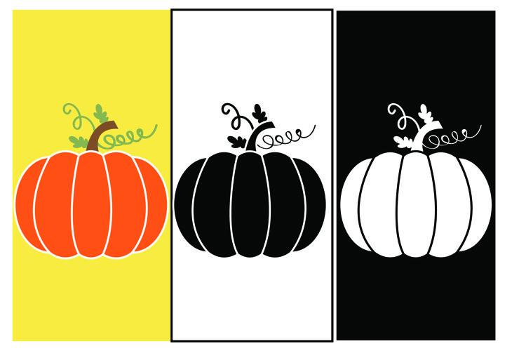 Pumpkin 3 Design - SVG Cut File - T shirt , Mug,Design