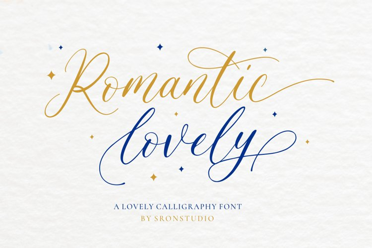 Romantic Lovely - Calligraphy Font example image 1