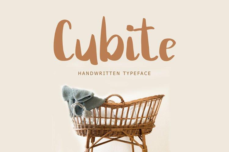 Cubite Handwritten Brush Font example image 1