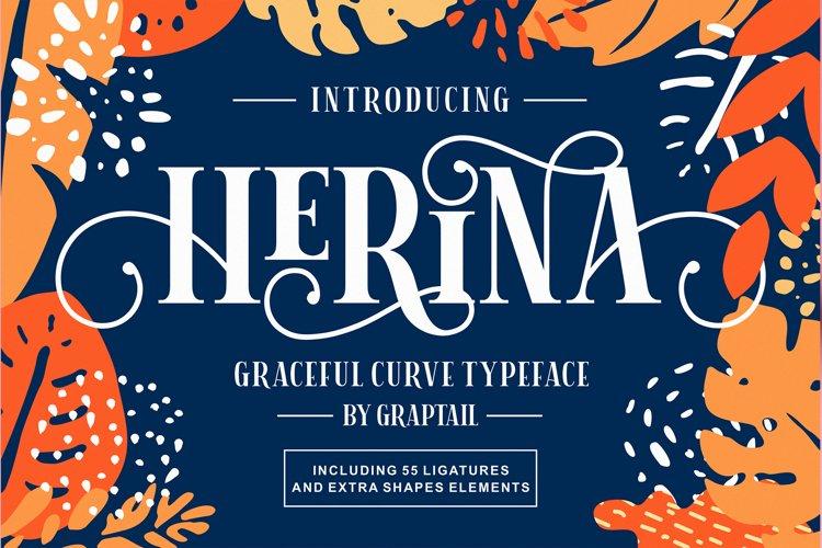 Herina Font example
