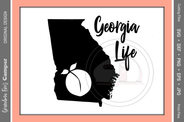 Georgia Life SVG, Georgia State Silhouette, Georgia Life Script example image 1