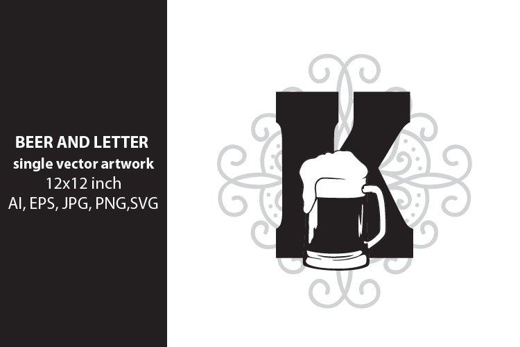 Beer, monogram letter K example image 1