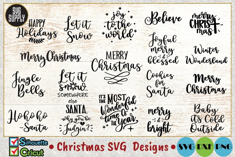 Christmas Quotes Bundle SVG Cut File example image 1