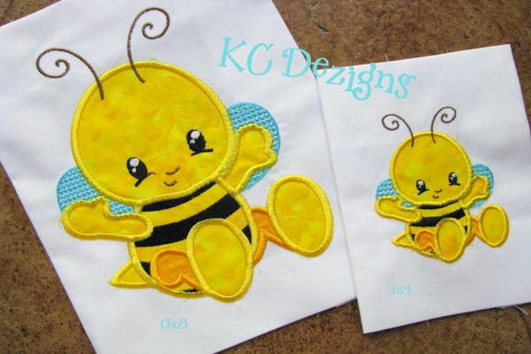 Baby Bug Bee Machine Applique Embroidery Design