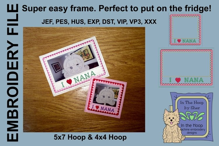 I Love Nana Picture Frames - 4 x 4 and 5 x 7 Hoops example image 1