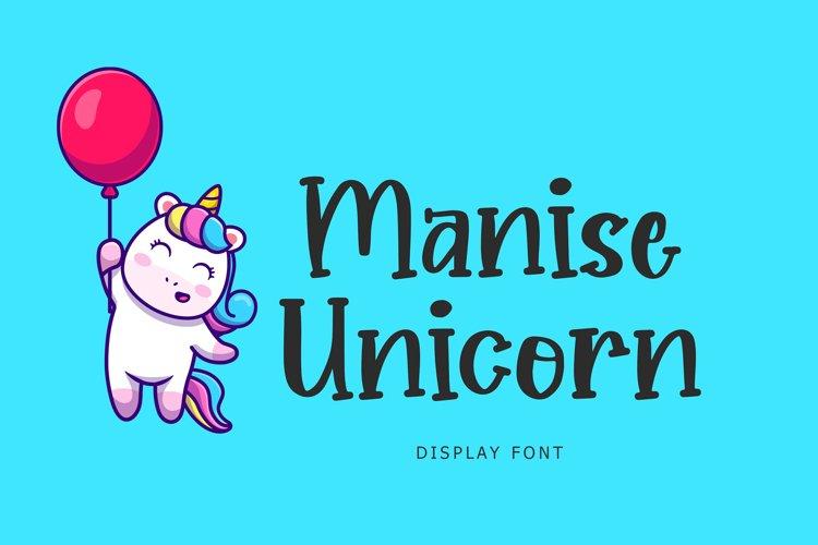 Manise Unicorn Display Font example image 1